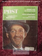 Saturday Evening POST April 9 1966 4/9/66 BING CROSBY STAGECOACH