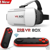 VR BOX Virtual Reality 3D Glasses Bluetooth Remote Control For Smartphone PC TV