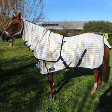 Cotton Horse Rug Detach A Neck Ripstop Show Sheet Satin Lined Sizes 4'6 to 6'9