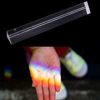 "7.8""20cm Optical Glass Triple Triangular Prism Physics Teaching Light Spectru+TR"