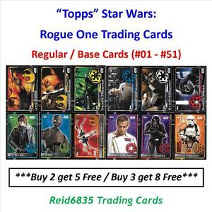 """""""Topps"""" Star Wars: Rogue One Trading Cards - Regular / Base Cards (#01 - #51)"""