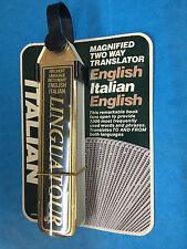Linguatour Italian English Pocket Travel Dictionary Flip Book Two-Way Translator