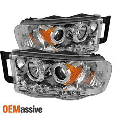 Fits 2002-05 Ram 1500 | 2003-05 Ram 2500 3500 Dual Halo Projector LED Headlights