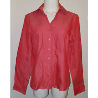NWOT ORVIS Coral Shirt Blouse Women's Size 8 Button Front 100% Cotton Career