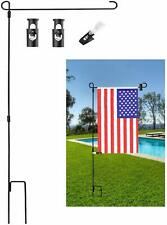 Us Garden Flag Stand Banner Flagpole Wrought Iron Yard Garden Flag Pole