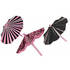 BRIDAL SHOWER A Day In Paris PAPER PARASOL DECORATIONS (3) ~ Party Supplies Pink