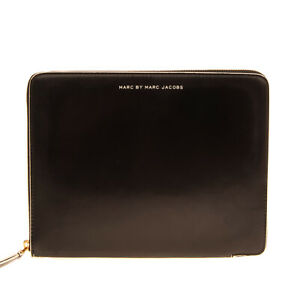 RRP €180 MARC BY MARC JACOBS Clutch Bag iPad Case PVC Leather Zip Around
