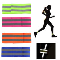 Reflective Fluorescent Safety Bands High Visibility Night Running Arm Band Belt