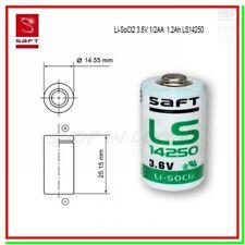 SAFT LS 14250 Batteria Pila 3,6V Li-SoCl2 MEZZA STILO 1/2 AA STD 1200mAh Sensori