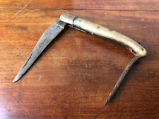 Laguiole Couteau Ancien David Corne de Bovin Antique Knife French