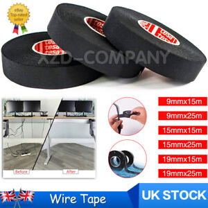 9~19mm Car Wiring Loom Tape Adhesive Fabric Harness Insulation Electrical Tape