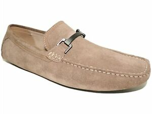 Kenneth Cole Reaction Men's Sound Drivers Taupe Loafers Suede Size 11 M