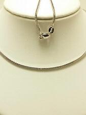 18k Solid White Gold Wheat Necklace / Chain 3.40 Grams