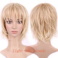 Women Long Hair Wig With Bangs Straight Kinky Curly Synthetic Wigs Cosplay Ombre