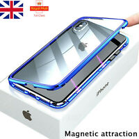 360 °Case for iPhone SE 11 7 8 XS Max Magnetic Adsorption Tempered Glass Cover