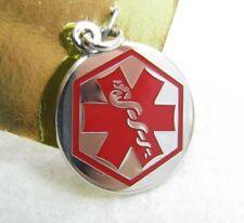 Vintage Sterling Silver Enamel Medic Medical Alert Pendant Bracelet Charm NOS