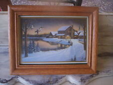 Vintage Wood frame/Vintage small picture frame/Glass and wooden frame/Small Wood