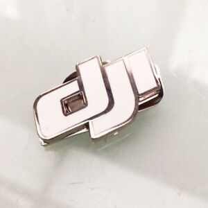 Small Magnet Logo Drone DJI White Silver 1 3/32X0 23/32in 1 Part