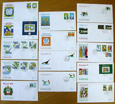 Suriname Republiek FDC jaargang 1995 compleet, 16 covers E180 t/m E189
