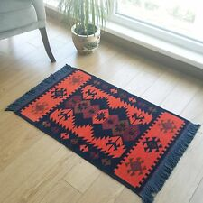 Modern Bohemian Style Turkish Area Rug, Kilim, Runner, Pastel Color Area Rug,