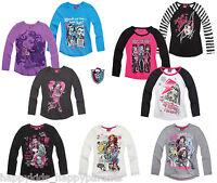 New Girls MONSTER HIGH Top T-Shirt LONG Sleeve 7 8 9 10 11 12 13 14 Yrs Design2