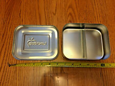 LunchBots Duo Stainless Steel 2 Section Food Lunch Container Bento Box Bot Metal