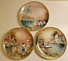Set of 3 Franklin Mint Collectible Plates Reel Pals Fishin' Friends Summer Dream