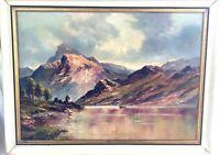 Original Vintage Framed Landscape & Ruins Oil Painting, Signed - European Italy?