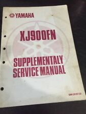 Yamaha XJ900FN Supplementaly Service Manual