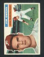 1956 Topps #114 Jim Owens EXMT/EXMT+ Phillies 94419