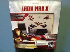 IRON MAN 3 Foil Wall Decals Stickers (Package of 24) Marvel Avengers Comic *New*