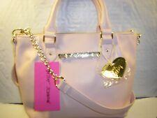 NWT Betsey Johnson Pinch Satchel Small Crossbody Bag + Bag Charm Blush Pink