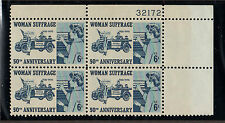 SCOTT # 1406 Woman Suffrage United States U.S. Stamps MNH - Plate Block of 4