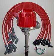 CORVETTE TACH DRIVE HEI Distributor & RED BBC 396-427-454 SPARK PLUG WIRES 45's