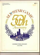 1983 Baseball All Star Game program at White Sox
