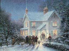 Evening Carolers - Christmas Card, Carols, etc. - Thomas Kinkade Dealer Postcard