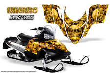 POLARIS SHIFT RMK DRAGON SNOWMOBILE SLED GRAPHICS KIT CREATORX WRAP INFERNO Y