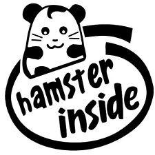Hamster Inside Cute Vinyl Sticker Decal - Choose Size & Color