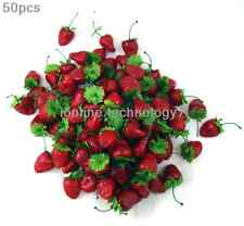 50 x fake strawberry artificial fruit faux food house kitchen party decor red