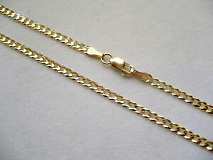 """2MM 10K SOLID GOLD MEN'S WOMEN'S CUBAN LINK CHAIN NECKLACE 16""""-36"""" FREE SHIPPING"""