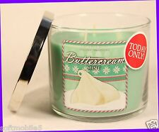 1 Bath & Body Works BUTTERCREAM MINT 3-Wick 14.5 oz Candle HTF BLACK FRIDAY ONLY