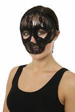 THE DAY OF THE DEAD SKULL MASK BLACK LACE FANCY DRESS MEXICAN HALLOWEEN