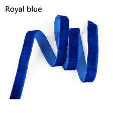 Per Metre 22mm Venetian Blue Velvet