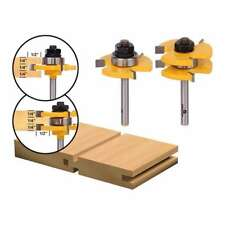 """2PCS 1/4"""" Shank Tongue and Groove Router Bit Woodworking Tenon Milling Cutter"""