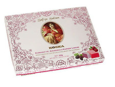 KOSKA SAFIYE Sultan TURKISH DELIGHT w BLACK MULBERRY & RASPBERRY 550  GR YUMMY!