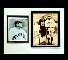 BABE RUTH, LOU GEHRIG Framed Autographed Prints Curtis Management Authentication
