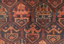 FULL PILE Antique Blue Field TIMURI Bag Face. Elibelinde motif honeycomb design.