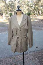 VTG Banana Republic Large Khaki Jacket Coat Military Safari Cotton Women's