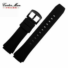 for CASIO EF-552, 25*19mm Rubber Silicone Watch Band/Strap/Bracelet + Free Tools