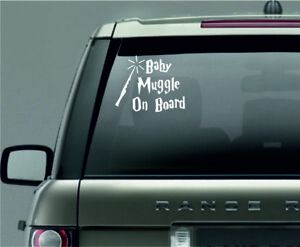 Baby muggle on board Car Window Vinyl / Sticker Decal in 12 colours
